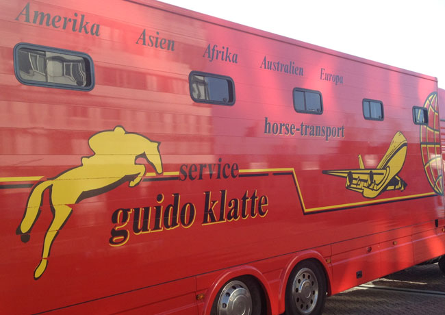 """Our ride from Amsterdam to the layover facility in Lastrup, Germany."" – Genna"