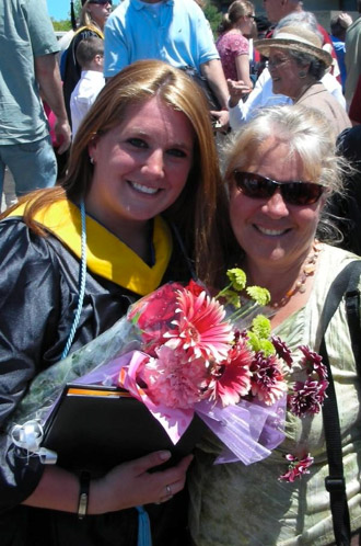Robin and myself at my college graduation 2008