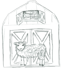 sheep-door