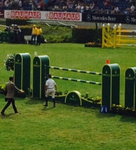 Margie Engle Walking Second Round in Rolex Grand Prix