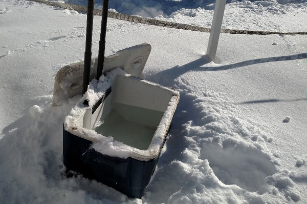 Water Cooler open after snow storm