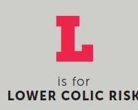l is for lower colic risk